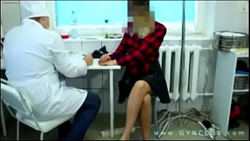a girl at a gynecologist's exam