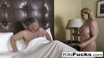 Kiki Daire makes her creepy husband eat cum off her body