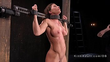Toned busty slave dp toyed 5分钟