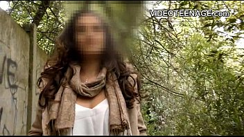 brunette teen outdoor casting