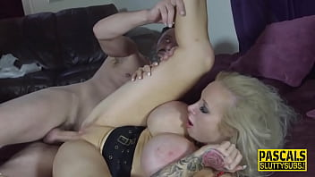 Submissive milf with massive boobs