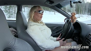 MonicaMilf s car breakdown in the norwegian winter
