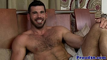 Gay bear dilf and hairy hunk fucking closeup