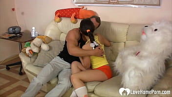 Hot teen in socks takes a good pounding