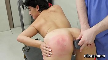 Kinky nympho was taken in anus asylum for painful therapy