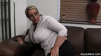 Busty office women stripping pictures Big tits in uniform riding him at work