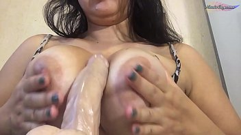 Play with Rubber Cock and Fuck Tits - Solo