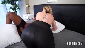 BBW Cop Angelina Castro Catches Naughty Sara Jay And A Big Dick Thief!