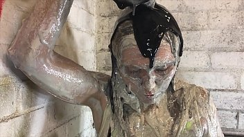 I'm gonna get SO MESSY for you! - Sweet Girl playing in Gunge and Clay.