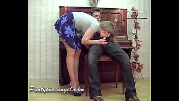 Smoking pantyhose blonde mature The piano teacher part i