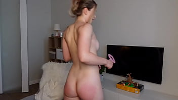 Beautiful Blond Pink Pussy Lips Vibrate from Toy