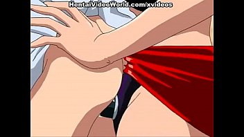 Lesbian hentai fuck with strap-on