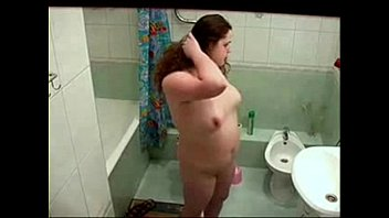 Amateur nude sisters - Hidden cam catches my chubby sister nude in bath room