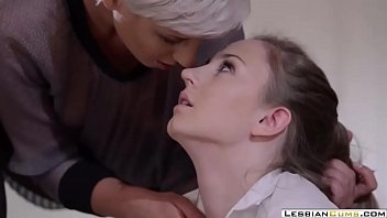 LesbianCUMS.com ⇨ Guilty Teen Strapon Fucked by Lesbian Teacher
