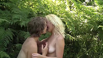 Hot Lesbians Ruby And Mira Plays Outdooors