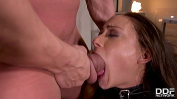 Spanks, fetish double dong penetration & choking makes Cassie Del Isla cum