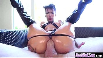 Big Oiled Butt Girl (bella bellz) Get Hard Nailed In Her Behind clip-06
