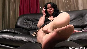Feet in pantyhose - Alisa high heels steps, and nylon footplay