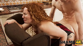 SHAME4K. Boy didnt expect his new neighbor to be such a slutty mature