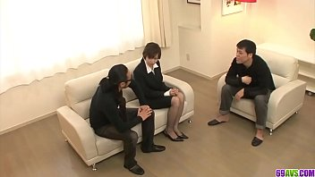 Extra Spicy Akina Hara Group Sex On The Couch - More At 69Avs Com