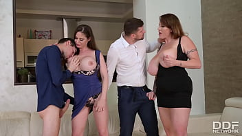 CoverTittyfucking Orgy with Voluptuous Nymphos Cathy Heaven & Laura Orsolya