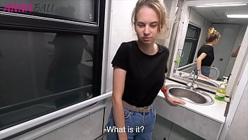 Got a slobbering blowjob from a stranger girl in a train toilet ANNA BALI