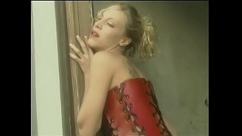 Cute young blonde whore with a shaved cunt fingers and toys her little slit in the empty building in lost town