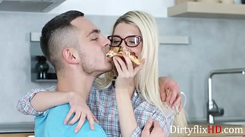 She didnt want pizza, she wanted cock