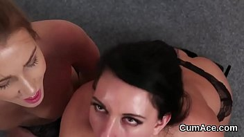 Nasty peach gets cumshot on her face swallowing all the cream