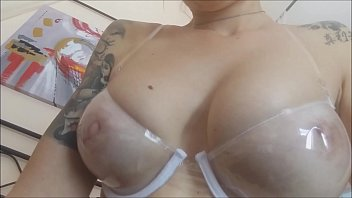 Cupless bra porn - My rubbers passion makes me wet even a strage plexiglass bra that...