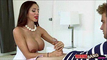Angel Del Rey shared cock with busty stepmom Ariella Ferrera
