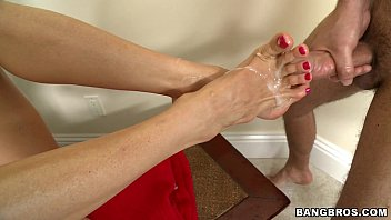 MILF eats Cum off Toes preview image