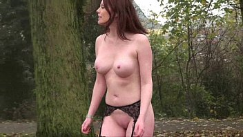 Uk Housewife Flashing with Holly in redhead public nudity