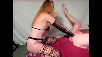 Punching his cum out
