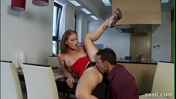 Horny Couple Get Into Hardcore Foreplay In The Kitchen