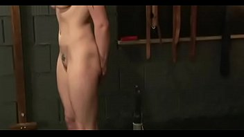 Chick gets tits fastened hard in complete bondage show