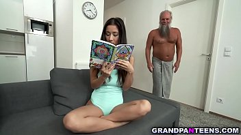 Flirty Teen Slut Gracia Lee Wants Old Man Alberts Vintage Cock. She Sucks His Dick Like A Pro And She Spreads Wide For Him To Dick Up Her Tight Pussy.