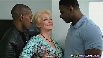 grandma gets fucked by two big black cocks