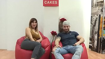 Busty Noelia and her husband film a porno for the first time