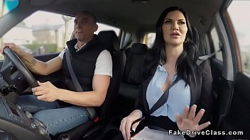 Milf driving examiner fucks big cock