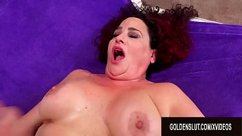Hot Older Redhead Amanda Ryder Satisfies Her Shaved Pussy with a Hard Cock