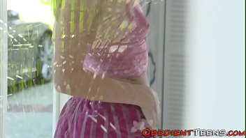 Tied teens face spunked