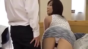 Horny japanese friend's mom gets fucked even if here son is there