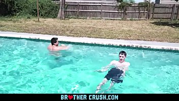 BrotherCrush - Skinny Twink Loves Getting His Throat Fucked By His Older Step Brothers