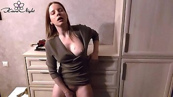 Woman Suck and Play Hairy Pussy Vibrator after Teaching at School