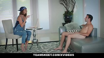 Badmilfs - Skinny Teen Has Threesome With Stepmom