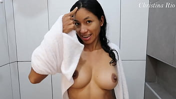 CHEATING LATINA brings me in an Airbnb to hide from her husband (SHE HAS TWO ORGASMS!!!) - Christina Rio