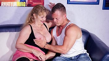 AMATEUR EURO - #Yvonne #Bodo - Crazy German Granny Fucks With Young Boy At Her Place