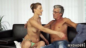 Old german threesome Sex with her boyduddy´s father after swimming