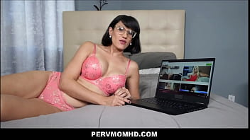 Big Ass MILF Step Mom Penny Barber Squirting Family Sex With Young Step Son While Watching Porn Together POV